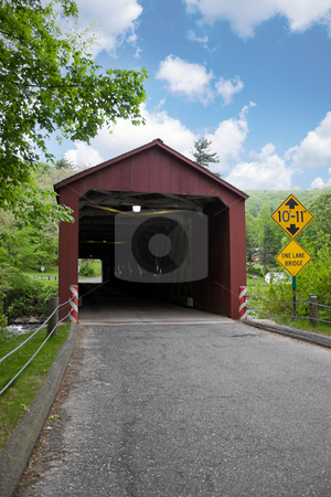 Covered Bridge stock photo, The old covered bridge found in West Cornwall Connecticut USA. by Todd Arena
