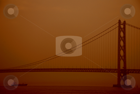 Akashi kaikyo bridge stock photo, Akashi kaikyo bridge in japan by Alvin Gacusan