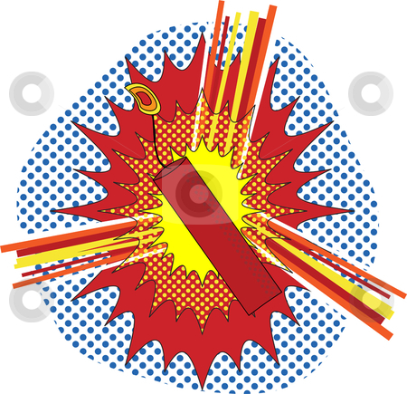 TNT Pop Art stock vector clipart, TNT Dynamate in a pop art cartoon explosive style by Augusto Cabral Graphiste Rennes