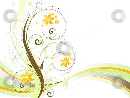 Floral background stock photo, Decorative abstract floral background by Kirsty Pargeter