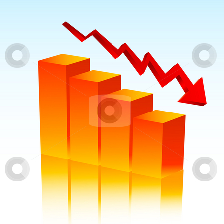 Falling profits stock photo, Chart showing falling profits by Kirsty Pargeter