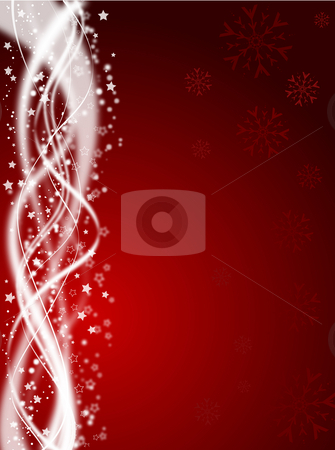 Starry background stock photo, Background of snowflakes and stars by Kirsty Pargeter
