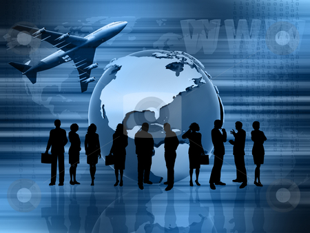 Global business stock photo, Conceptual image showing global business by Kirsty Pargeter