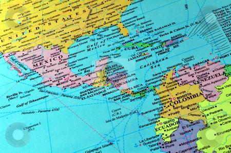 Central America and Caribbean map stock photo, Countries in Central America and the Caribbean by Fernando Barozza