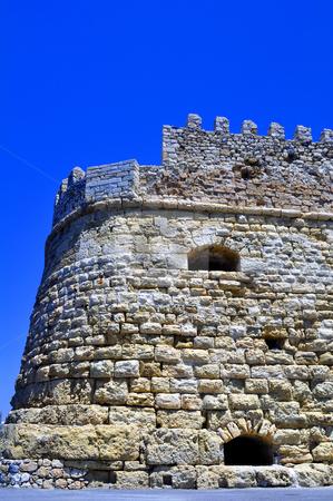Fortification: Venetian castle (Koules), in Crete, Greece stock photo, Venetian fortress in the Island of Crete, Greece by Fernando Barozza