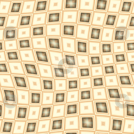 Wavy blocks pattern stock photo, Seamless texture of tan 3d blocks in a wave by Wino Evertz