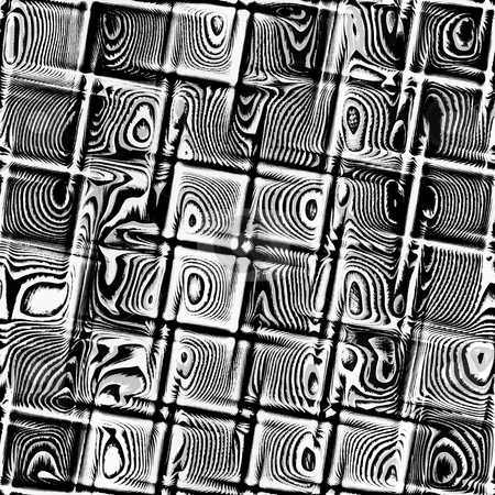 Grunge blocks pattern stock photo, Texture of dirty black and white cubes with rings by Wino Evertz