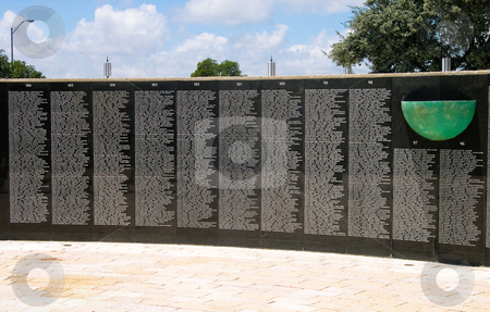 Holocaust wall stock photo, Wall of names, Miami Beach Holocaust Memorial by Jaime Pharr