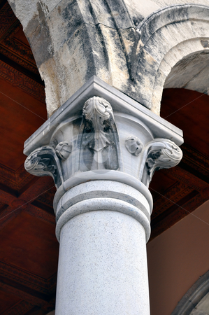 Greek column stock photo, Detail of greek contruction in the island of Crete by Fernando Barozza