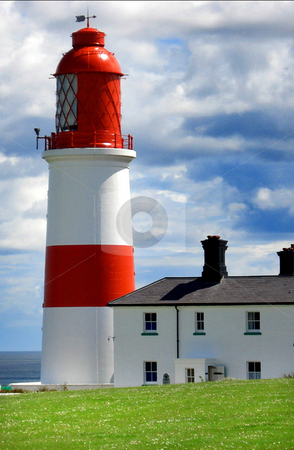 Red and White Lighthouse stock photo, Newcastle Red and White Lighthouse by Marc Torrell
