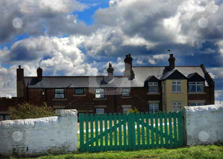 North england house stock photo, North england house with a cloudy sky by Marc Torrell