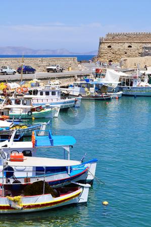 Fishing boats stock photo, Fishing boats. Port of Heraklion, Crete, Greece by Fernando Barozza