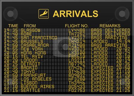 International Airport Arrivals Board stock photo, International Airport Arrivals Board by Nuno Andre