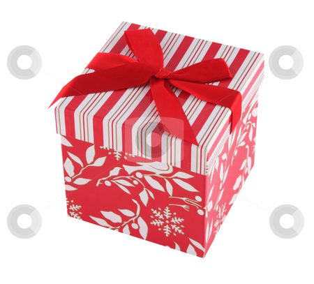 Present 9 stock photo, Present in decorative box with red bow by Stacy Barnett
