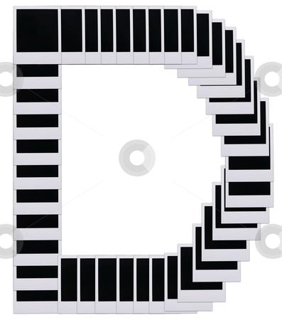 Polaroid film blanks letter D stock photo, Old Polaroid film blanks in the shape of the letter D by Stacy Barnett