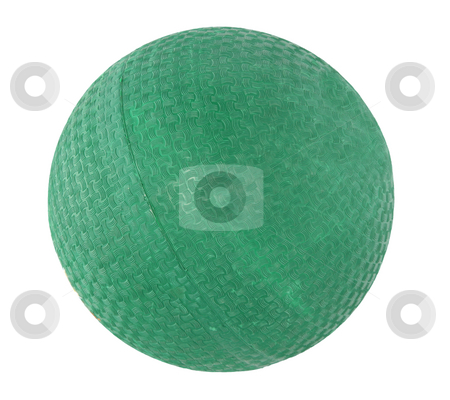 Plastic handball 2 stock photo, Green plastic handball with texture isolated on white background by Stacy Barnett