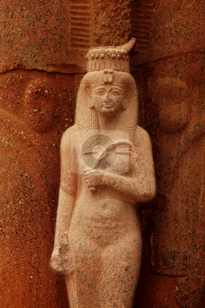 Queen Hatchepsovet stock photo, Sculpture of Queen Hatchepsovet in temple, Luxor, Egypt by Tom P.