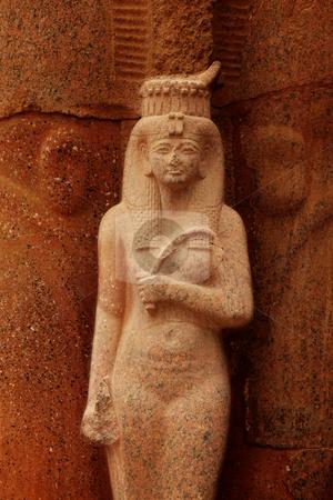 Queen Hatchepsovet stock photo, Sculpture of Queen Hatchepsovet in temple, Luxor, Egypt by Tom P.