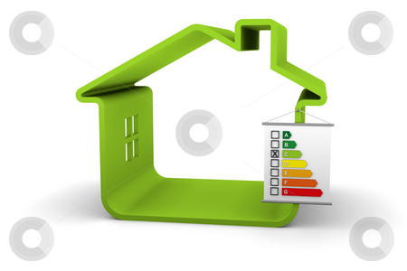 Building Energy Performance C Classification stock photo, House with an C energy performance classification by Nuno Andre