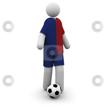 Barcelona Soccer Player stock photo, Barcelona Soccer Player at the European Championships Cup's Final by Nuno Andre