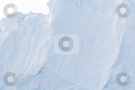 Iceberg #5 stock photo, Iceberg wall close up with minor cracks by Anders Peter