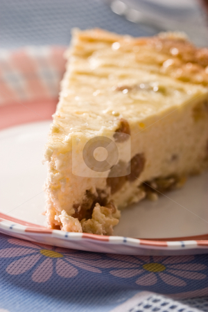 Cheese-cake stock photo, Food series: yummy cheese-cake on the plate by Gennady Kravetsky