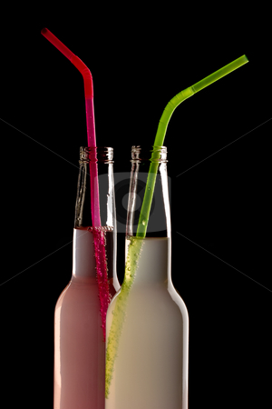 Cocktail stock photo, Drink series: fresh  color cocktails with straw by Gennady Kravetsky