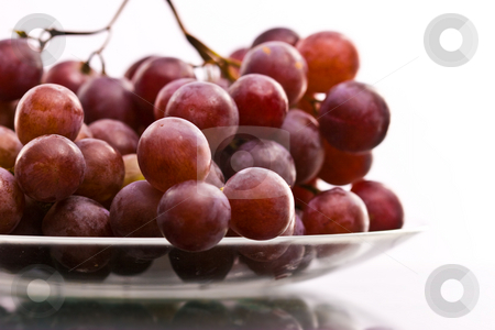Grapes stock photo, A shot of grapes on the plate by Gennady Kravetsky