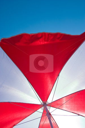 Beach Umbrella  stock photo, Macro picture of beach umbrella, abstract background by Gennady Kravetsky