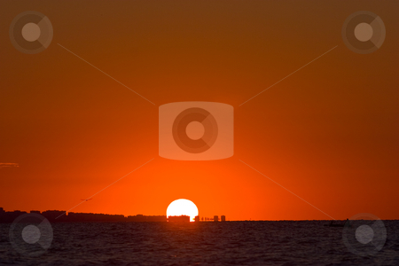 Sea sunset stock photo, View series: hot summer red sea sunset by Gennady Kravetsky