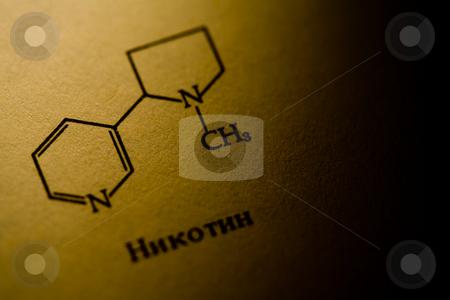 Nicotine stock photo, Chemisrty series:  nicotine formula in organic chemistry by Gennady Kravetsky
