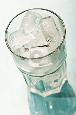 Ice for cocktail  stock photo, Drink series: Ice in the glass for cocktail by Gennady Kravetsky