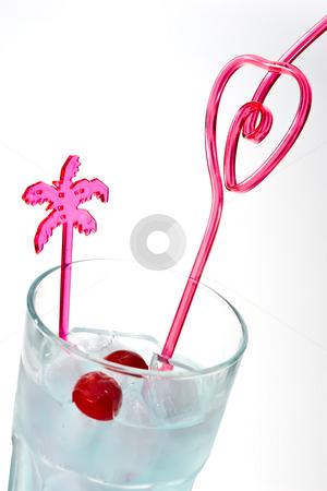 Mix stock photo, Drink series: valentine's mix with cherry by Gennady Kravetsky