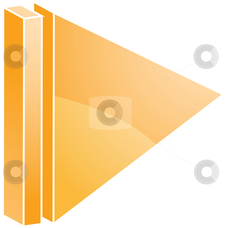 End audio icon stock photo, End Audio icon illustration, triangle with line by Kheng Guan Toh