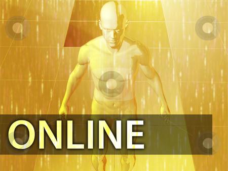 Online  illustration stock photo, Online illustration, digital virtual avatar abstract by Kheng Guan Toh