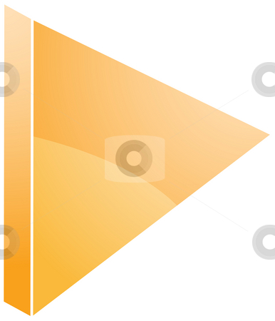 Play audio icon stock photo, Play Audio icon illustration, triangle with line by Kheng Guan Toh