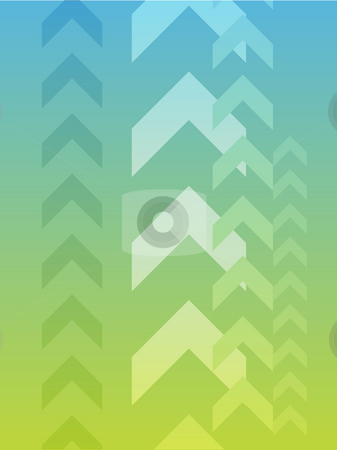 Upwards arrows stock photo, Abstract graphic design of upwards pointing arrows by Kheng Guan Toh