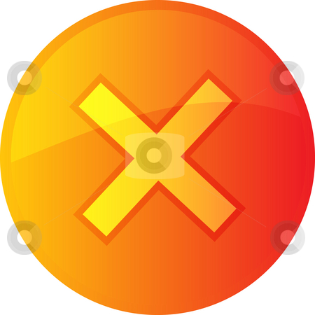 Cancel navigation icon stock photo, Cancel navigation icon glossy button, round shape by Kheng Guan Toh