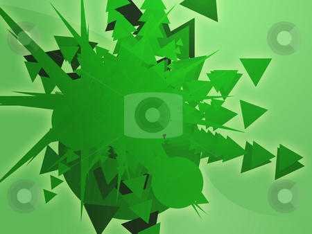 Shape explosion stock photo, Explosion of geometric shapes abstract rendered illustration by Kheng Guan Toh
