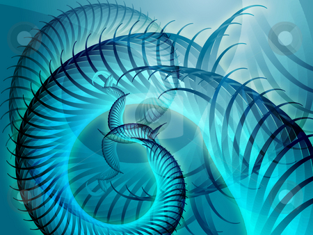 Swirly spiral grunge stock photo, Abstract background design of swirling spiral fronds by Kheng Guan Toh