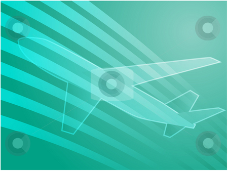 Air travel airplane stock photo, Illustration of an airplane showing air travel by Kheng Guan Toh