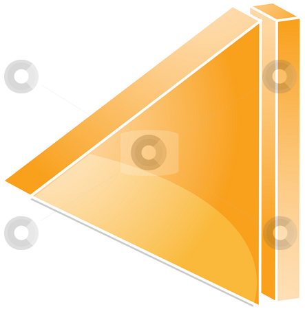 Beginning audio icon stock photo, Beginning Audio icon illustration, triangle with line by Kheng Guan Toh