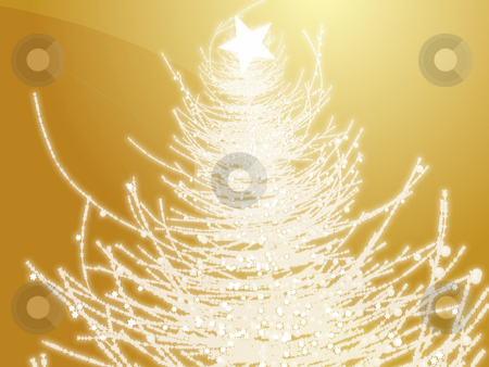 Christmas tree stock photo, Sparkly christmas tree, abstract graphic design illlustration by Kheng Guan Toh