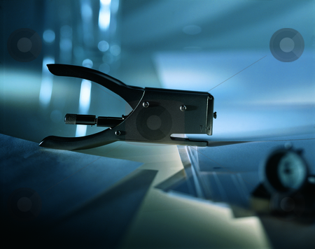 Juwel stock photo, Office still-life with stapler by Andreas Brenner