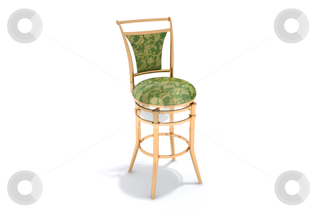 Interior subject stock photo, Chair on a white background. A paths by Aleksandr GAvrilov