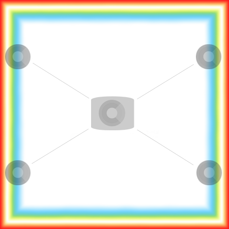 Neon Frame stock photo, A frame with turquoise, red and yellow neon borders with room for text inside. by EC Studio