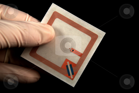 Rfid tags stock photo, Stock picture of wireless tags used for rfid purposes by Albert Lozano