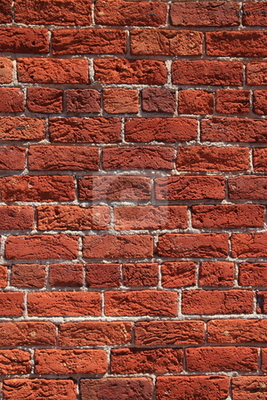 Brick texture stock photo, Vertical red brick texture wall by Jack Schiffer