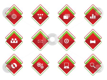 Business button icon stock vector clipart,  by Aurelio Scetta