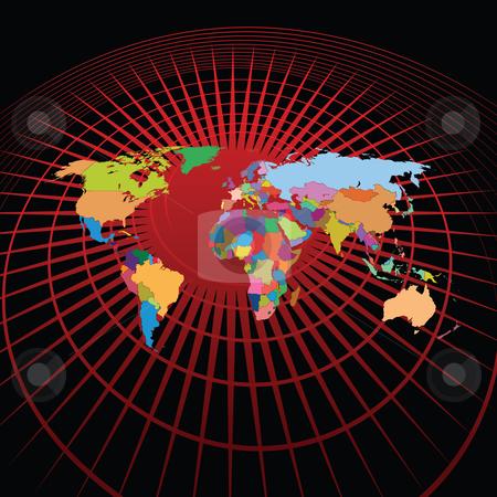 World map stock vector clipart,  by Aurelio Scetta